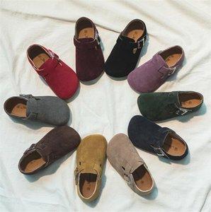 2020 Новый Лето Дети Бич сандалии для мальчиков сандалии Корк Нескользящие Мягкая кожа девушки Спортивные сандалии Детская обувь Открытый моды