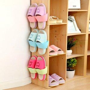 New Wall-Mounted Sticky Hanging Shoe Hook High Quality Shelf Rack Home Shoes Holder Storage Hot Plastic Shelf Stand Shoe box