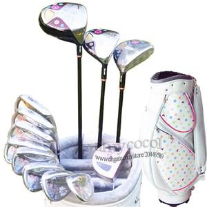 Nuevas mujeres de los clubs de golf Maruman FL Clubes Juegos completos Golf Drive planchas de madera putter eje de clubes L Grafito de golf y bolso de envío libre