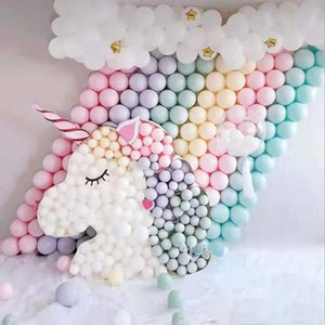 5inch double-decker Candy colored Macaron latex ballon Happy Birthday Ballon