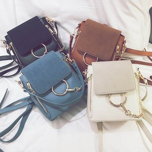 New Fashion Women Shoulder Bags PU Leather Chain Crossbody Bag Handbags Circle Purse Good Quality Female Backpack