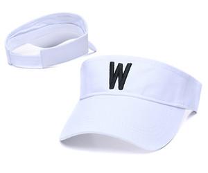 Lettre W Sun Caps Sunhat Voyage extérieur durable Caps vide Vélo Sports Plage Shade Cap en cours