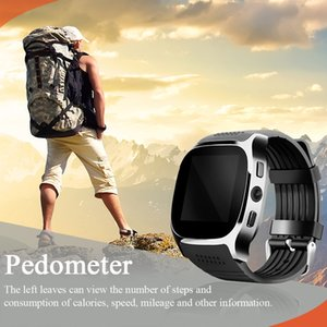 Hot T8 Bluetooth Smart Pedometer Watches Support SIM &TF Card With Camera Sync Call Message Smartwatch Watch For Android