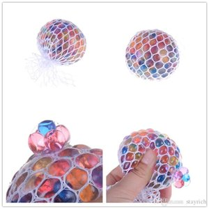 Anti Stress Reliever Rainbow Grape Ball Squishy Phone Straps Mood Relief Hand Wrist Squeeze Toy Decompression Toys Novelty Items