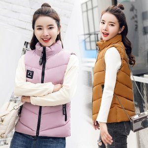 9uwWO 2020 horse clip short large size down cotton vest female earphone stand collar cotton-padded Cotton-padded headset vest headset jacket