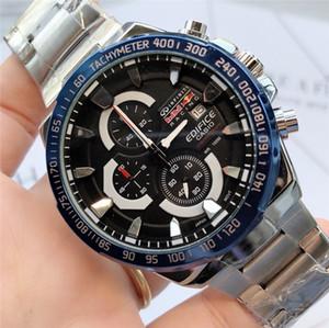 패션 브랜드 크로노 그래프 작업 고품질 남성 명품 시계 다기능 드레스 캐주얼 쿼츠 시계의 경우 남자 스포츠 시계