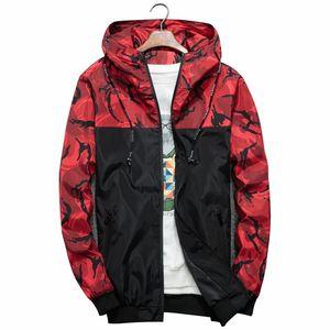 Spring Autumn Mens Hoodie Jacket Men Waterproof Clothes Men's Windbreaker Coat Male