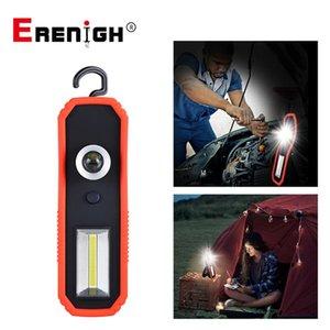 LED portatile Spotlight di ricarica USB Battery Operated luce del lavoro COB magnetica Lanterna Camping gancio appeso lampada 600LM