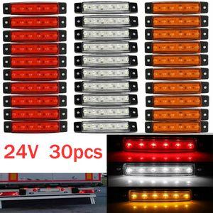 Cheap Truck Light System 30x 6 LED light SMD 24V White Red Orange Truck Trailer Pickup Side Marker Indicator Lamps caravan tractor kart