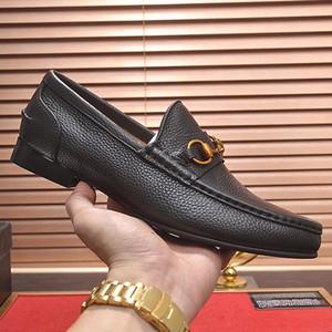 2019 nouveau classique pois chaussures en cuir mens mode casual chaussures marque hommes conduite conduite antidérapante chaussures de conduite de haute qualité avec original packagi qa