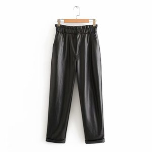 AAZZ45-9633 European and American fashion faux fur loose casual pants