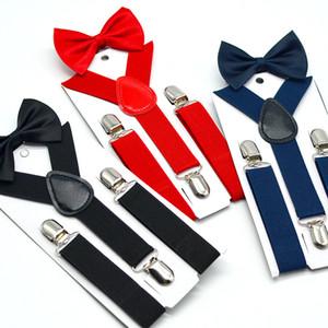 Bow Tie enfants Suspenders Set Garçons Filles bretelles élastiques Y bretelles avec Bow Tie Mode Ceinture Enfants Bébé Retro Bracelet Clip Y-back M558