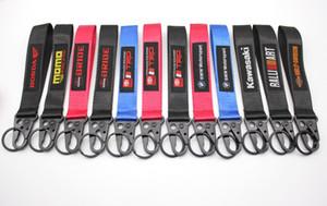 100pcs moto poignet marque mode trousseau Longe suspendu sangle corde clés Porte-clés Clip Boucle Quick Release porte-clés