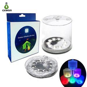 Portable gonflable lumière solaire IP65 3 LED Modes Lanterne de camping Lumière pour randonnée en plein air Jardin Gyrophare