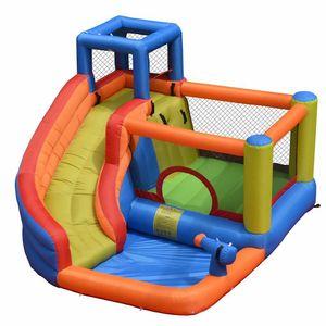 Kapalı Küçük Aile Şişme Bounce Slide Ev Jumper Water Slide Park Combo İçin Çocuk Trambolin Su Slide Bahçesi Açık W Blower