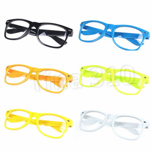 new Sunglasses Unisex sunglasses Rivet Sunglasses Retro Color Unisex Punk Geek Style Clear Lens Glasses Fashion AccessoriesT2C5152
