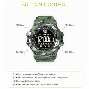 EX16 Além disso relógio inteligente Sports impermeável de Fitness Rastreador inteligente Pulseira Bluetooth pedômetro relogio de pulso inteligente para iPhone Android