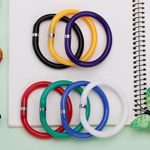 Penna a sfera creativa 30PCS flessibile molle sveglia di plastica BRACCIALI Penne a sfera ufficio scuola Regali Supplies Penna promozionale