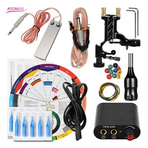 Motor Liner Shader Kit Professional Complete Tattoo Machine Kit Starter Rotary Motor Pen Liner And Shader Set Cartridge Completed
