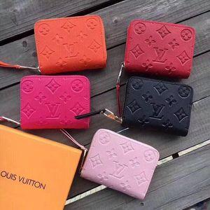 Portafoglio DonnaLV portamonete breve portafoglio del titolare della carta policromatica borsa della signora Mini classica tasca con cerniera