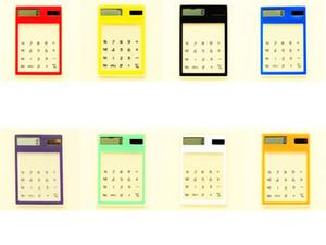 New Arriving!!! Solar Power Transparent screen calculator Pocket Electronic Calculator Mini calculators Pico-ordinateur Good Price Wholesale