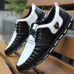 GOXPACER homens outono sapatos Mocassins homens sapatos casuais estilo britânico homens populares apartamentos sapatos pequena moda em couro individuais