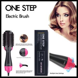 خطوة واحدة الكهربائية فرشاة الشعر 4IN1 الشعر بكرة الشعر شعر الجمال الطراز متعدد الحرارة ضبط استقامة مجعد مشط الرجل والمرأة