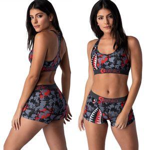 Ethika Donne Designer Swimsuit Bassiera Vest + Pantaloncini da bagno dei tronchi Boxers 2 piece set Tuta Patchwork Shark Camo Swimwear Bikini SOMG