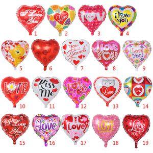 18inch amor coração foil mylar balões de casamento decoração balão de hélio globos para 2021 dia dos namorados