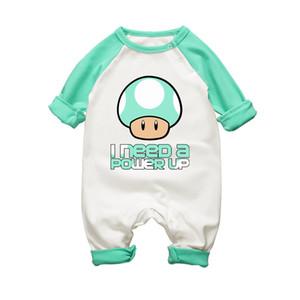 Super Mario Pilzdruck Babyspielanzug Nettes Baby Baumwolle Kleidung Frühling Herbst 0-18 Monate Junge Mädchen Overalls Infant Kinder Kleidung Y19050602