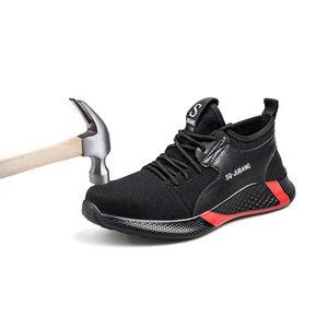 2020 Новая труда обувь стали Глава Противоскользящие Работа безопасности обувь Открытый обуви для мужчин Спорт Туризм Охота Boots Тактический обуви