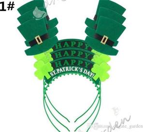 Dia 100pcs Irish St Patricks Headband verde Leprechaun hairband Shamrock Buckle vestido extravagante do carnaval chapéus de Natal
