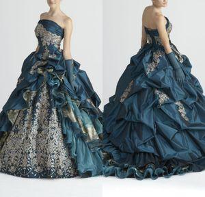 Stella De Libero Vintage Свадебные платья с перчатками аппликациями Многоуровневое Юбки Свадебные бальные платья развертки поезд Рябь Noble Свадебное платье