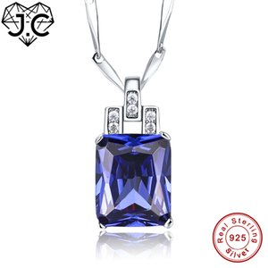 J. C-Frauen-Mädchen-schöner Anhänger Rubin Tanzanite Blau Topaz-Körper-925 Sterlingsilber-Halskette edlen Schmuck für Freundin