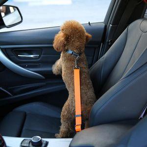 Asiento regulable perro de la seguridad del coche de la correa de nylon pets Asiento plomo correa del arnés del cinturón de seguridad del vehículo de 7 colores YSY387-L