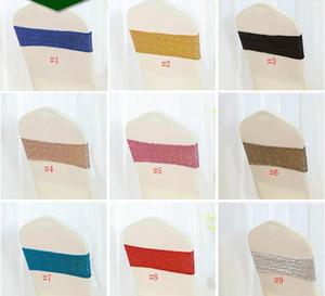 100 UNIDS Rosa silla de Lentejuelas arcos Envío libre Spandex con Bandas de Silla de Lentejuelas Boda elástica marcos de la casa Textiles Decoraciones SN1905