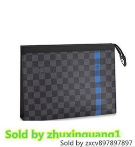 N64444 POCHETTE MM Men Women Wallet Leather Clutch Bag WALLETS PURSE Mini Clutches Exotics EVENING CHAIN Belt Bags