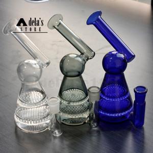 """6.7"""" Bunte Seltsamer Glas Wasserrohr + Free Glaskopf 14mm Joint Banger Hanger Nail Glas Bongs Dab Rigs Bohrinsel Beaker 969"""