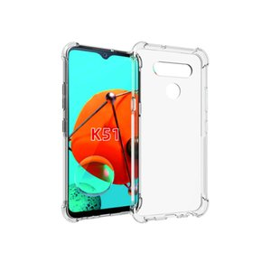 Clear shockproof silicone case for LG v60 thinq K51 Stylo6 k51s velvet W30 w10 k40s k61 k41s k50s transparent cases back tpu cover covers