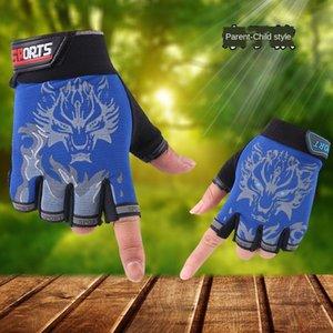 P6xeW Gants de sport de doigts demi-vélo de plein air doigt révélant enfants patinage enfants roller roller enfants de vélo childre
