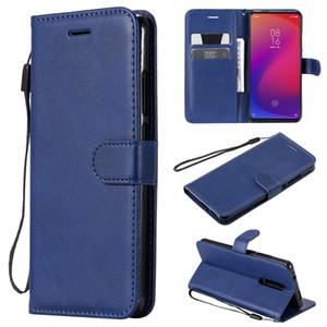 Pour Xiaomi redmi 8 / 8A redmi Flip Cover Case Wallet Support couleur pure PU Mobile Téléphone Sacs en cuir pour Xiaomi redmi Coque K30