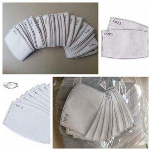 Pm2. 5 maskeleri filtre değiştirilebilir 5 katmanlı yüz maskesi filtre Pad Aktif Karbon toz maskesi Filtreler solunum ağız kül eklemek CCA12039