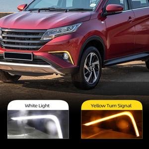 Işık için Toyota Rush 2018 2019 Araç Aksesuarları Su geçirmez 12V DRL Sis Lambası Dekorasyon Running 2 adet LED Gündüz