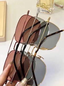 МУЖСКИЕ ЖЕНСКИЕ французский дизайнер кадров Круглый Позолоченные ретро Мода Стиль SL309 Открытый Aviator Солнцезащитные очки Eco-Friendly Metal
