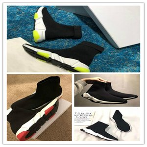 2020 Trainer Black Red Gypsophila Triple Black Fashion Sock Boots Casual Shoes Speed Trainer Runner With Dust Bag