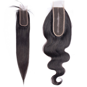 Top Quality Indian Raw Temple Hair Extension 2x6 Lace Closures Body Wave Donor Full Cuticle Dyeable Natural Straight 12inch to 20inch Sample