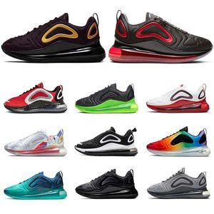 Bred KPU Nike Air Max 720 OG Mulheres Homens Tênis de corrida preto Hiper Triplo Branco elétrica verde Mar Floresta Be True Sneakers Mens Trainers Tamanho 36-45