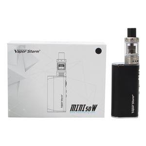 Vapor Tempestade Mini 50 W E Cigarro Vape Starter Kit 10-50 W Caixa de Potência Mod 2200 mAh Bateria Embutido 2 ml 0.5ohm V Tanque Atomizador Ecig