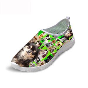 HYCOOL bella Pet Dogs Stampa Green Shoes piattaforma per le donne Femminile leggero Beach Calzature signore casuali dello slip-on scarpe da tennis