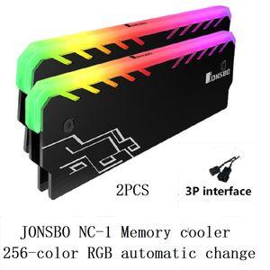 Fan Fans & Cooling 2PCS Memory Cooling Vest Radiator Cooler shell RGB LED 256 Automatic Light Effect Aluminum Heatsink for